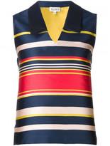 Suno striped V-neck top