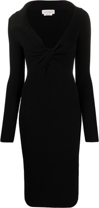 Alexander McQueen Twist-Detail Mid-Length Dress
