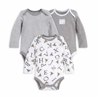 Burt's Bees Baby Baby Bodysuits 3-Pack Long & Short-Sleeve One-Pieces 100% Organic Cotton