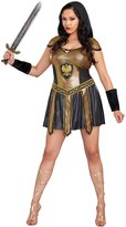 Dreamgirl Women's Plus-Size Deadly Costume, Black/Gold