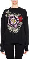 Alexander McQueen Embroidered Poppy Sweatshirt