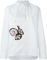 Marni floral emboirdered shirt - women - Silk/Cotton/Vinyl/Resin - 40
