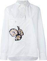 Marni floral emboirdered shirt - women - Silk/Cotton/Vinyl/Resin - 42