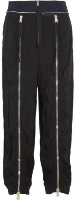 Chloé Zip-embellished Crepe Track Pants