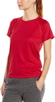 Stedman Apparel Women's Active 140 Raglan/ST8500 Regular Fit Short Sleeve Sports T-Shirt
