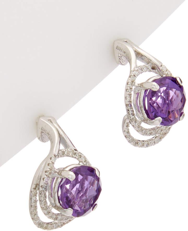 Effy Fine Jewelry 14K 4.34 Ct. Tw. Diamond & Amethyst Drop Earrings