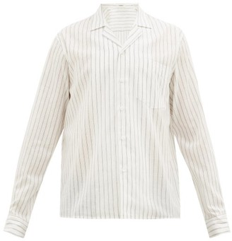 COMMAS Striped Cotton Blend Shirt - Mens - White Multi