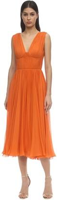 Maria Lucia Hohan Viola Silk Chiffon Midi Dress