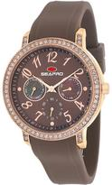 Seapro SP4414 Women's Swell Brown Silicone Watch with Crystal Accents