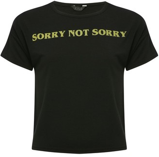 M&Co Teen sorry not sorry slogan t-shirt