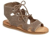Dolce Vita Girl's Jory Perforated Ghillie Sandal