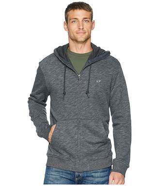 Vineyard Vines Basic Full Zip Hoodie (Medium Heather Gray) Men's Sweatshirt