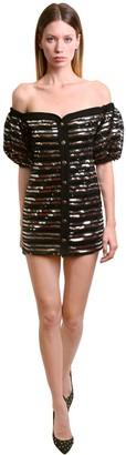 Philosophy di Lorenzo Serafini Off-the-shoulder Sequined Mini Dress