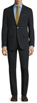 Isaia Wool Striped Notch Lapel Suit
