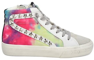 Vintage Havana Tie-Dye High-Top Sneakers