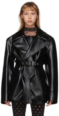 Maison Margiela Black Faux-Leather Blazer