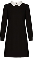 Goat Dusty point-collar wool-crepe dress