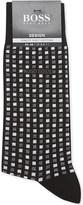 HUGO BOSS Square grid cotton socks