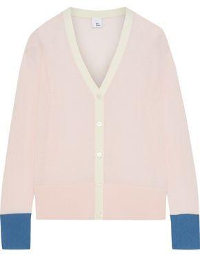 Iris & Ink Muilla Color-block Merino Wool Cardigan