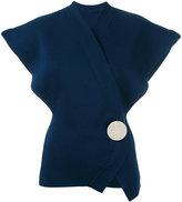 Jacquemus oversized-shoulder blouse