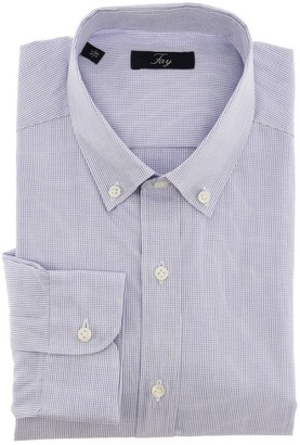 Fay Shirt Micro Patterned Shirt With Button Down Collar