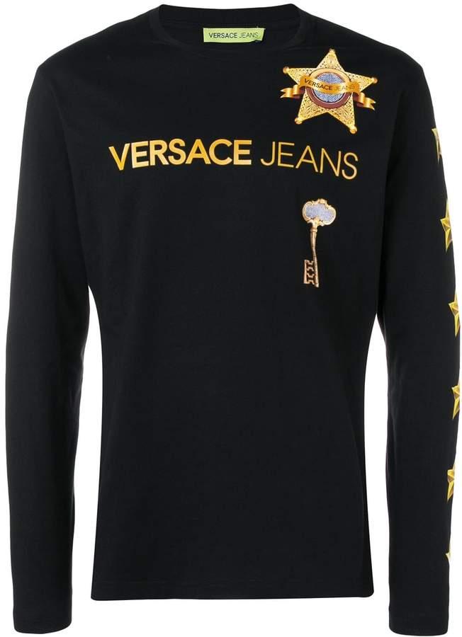 Versace star print longsleeved T-shirt