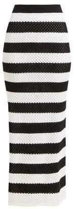 Dodo Bar Or Margaret High-rise Striped Cotton Skirt - Womens - Black White