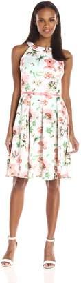 Julian Taylor Women's Floral Printed Trapeze Dress
