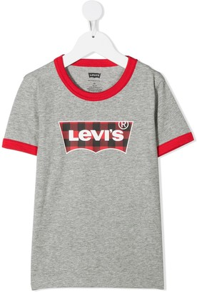 Levi's logo print two-tone T-shirt