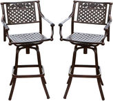 Asstd National Brand Sebastian Set of 2 Cast Aluminum Barstools