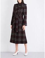 Topshop Heaton wool-blend trench coat