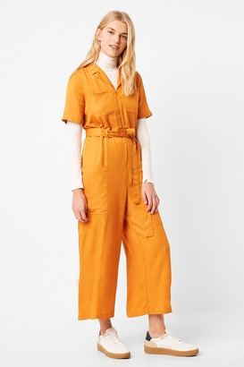 French Connection Enzo Drape Belted Boilersuit