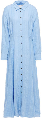 Mara Hoffman Michelle Linen And Organic Cotton-blend Maxi Shirt Dress