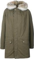 Yves Salomon fur-trim parka coat