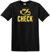Adeapa Men's T-Shirt Check Engine Light Short Sleeve