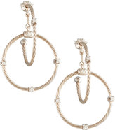 Paul Morelli 18k White Gold Diamond Link Earrings, 28mm