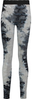 Enza Costa Printed Ribbed Stretch-Knit Leggings