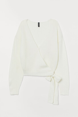 H&M Knit Wrap-front Cardigan