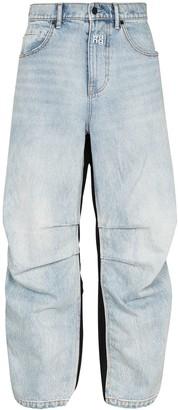 Alexander Wang Hybrid Contrast-Panel Jeans