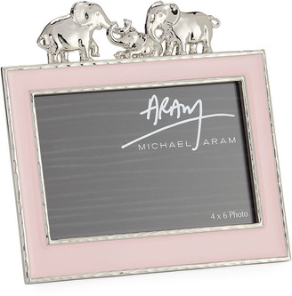 "Michael Aram Girls' Elephant 4"" x 6"" Picture Frame, Pink"