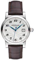 Montblanc 107315 Star Date Automatic Alligator Strap Watch, Brown/white