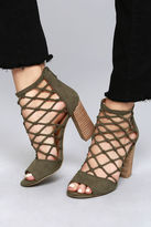 Report Mixie Olive Suede Caged Heels