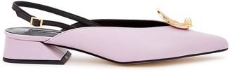 YUUL YIE Zizi 40 Lilac Slingback Leather Pumps