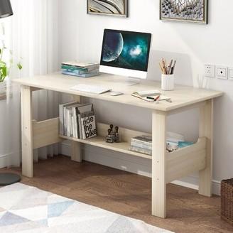 """Inbox Zero Home Desktop Computer Desk Color: Black, Size: 28.3"""" H x 39.4"""" W x 17.7"""" D"""