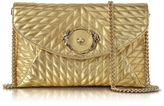 Roberto Cavalli Star Metallic Quilted Nappa Leather Envelope Bag