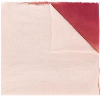 Faliero Sarti Colour Block Frayed Edge Scarf