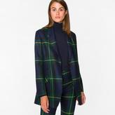 Paul Smith Women's Regular-Fit Black Watch Check Wool Blazer