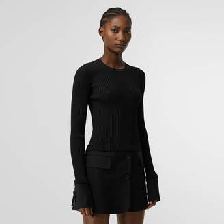 Burberry Tailored Hem Rib Knit Wool Mohair Dress