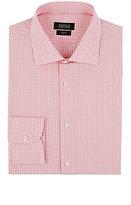 Barneys New York Men's Plaid Shirt-RED