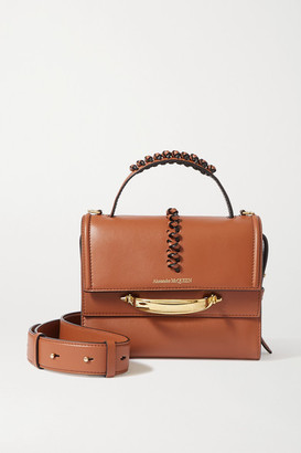 Alexander McQueen The Story Braided Leather Shoulder Bag - Brown